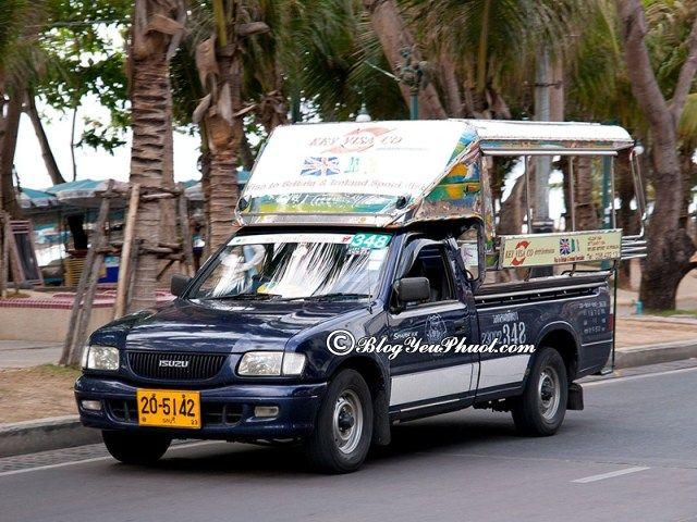 Phương tiện giao thông phổ biến tại Pattaya: Đi du lịch Pattaya bằng phương tiện gì?