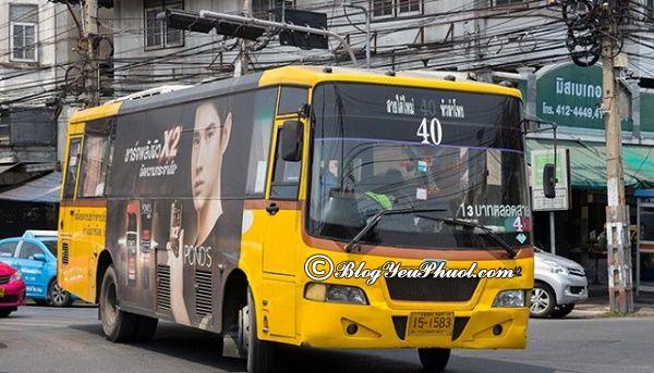 Mẹo vặt giúp đi xe bus thuận tiện ở Bangkok: Kinh nghiệm đi du lịch Bangkok bằng xe bus