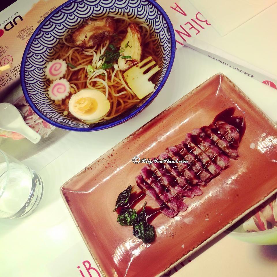 Nhà hàng, quán ăn ngon ở Barcelona- Nhà hàng Udon, địa điểm ăn uống ngon, bổ, rẻ ở Barcelona