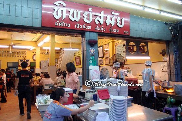 Địa chỉ ăn ngon ở Bangkok: Ăn đặc sản đường phố Bangkok ở đâu ngon, giá rẻ?