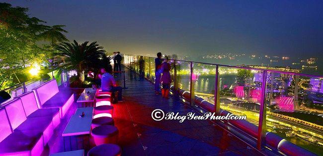 Singapore có quán bar nào đẹp, nổi tiếng? Địa chỉ những quán bar view đẹp, trên cao nổi tiếng ở Singapore