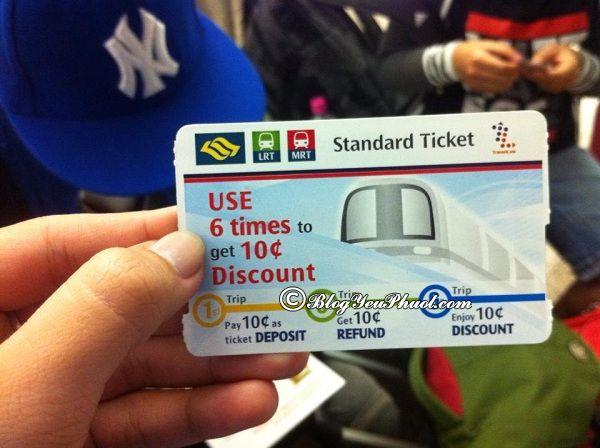 Cách di chuyển bằng MRT tại Singapore: Hướng dẫn đi du lịch Singapore bằng MRT