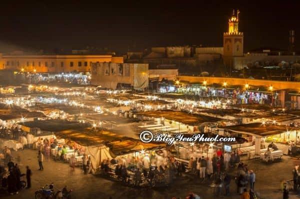 Địa điểm du lịch nổi tiếng ở Marrakesh: Nên đi đâu chơi, tham quan, mua sắm khi du lịch Marrakech?