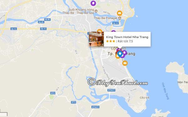 Khách sạn 3 saoKing Town Nha Trang nằm ở đâu, có gần biển không? Đánh giá vị trí của khách sạn King Town Nha Trang