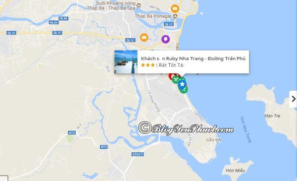 Khách sạn Ruby Nha Trang nằm ở đâu, có gần biển không? Đánh giá, review vị trí của khách sạn Ruby Nha Trang