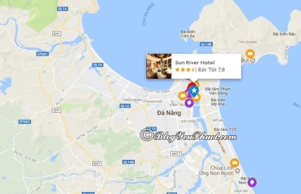 Khách sạn 3 sao Sunriver Đà Nẵng nằm ở đâu? Review vị trí của khách sạn Sunriver Hotel Đà Nẵng
