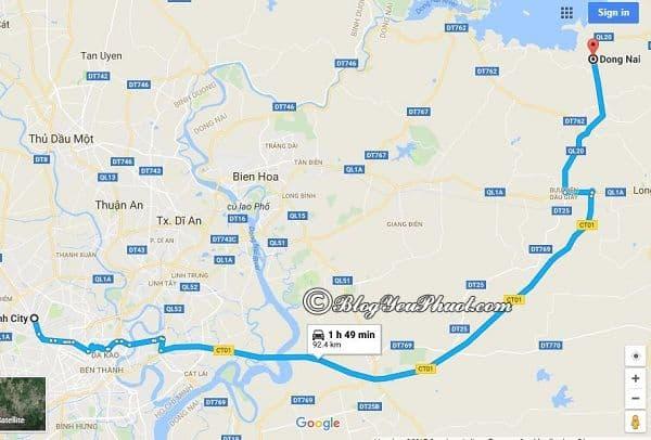 Bản đồ đường đi từ TPHCM đến Đồng Nai: Cách di chuyển từ Sài Gòn tới Đồng Nai nhanh, thuận tiện