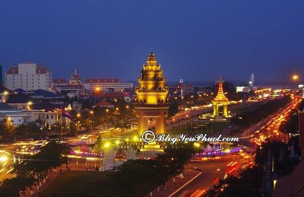 Khoảng cách đi từ sài gòn tới Phnompenh