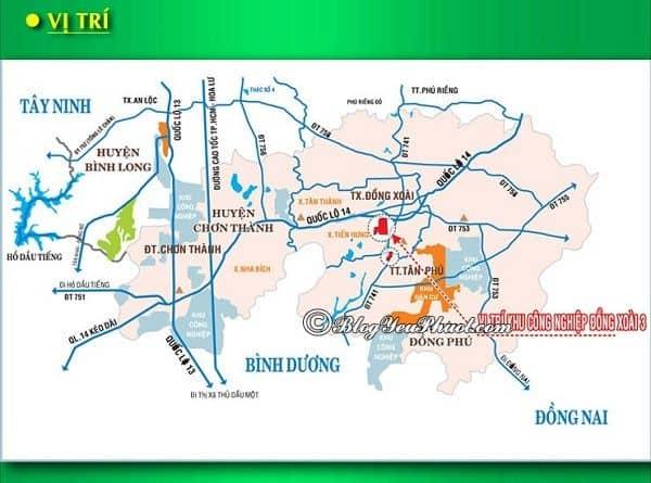 Đường đi từ Sài Gòn đến Bình Phước: Bản đồ đường đi tham quan, du lịch Bình Phước