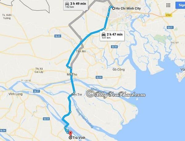 Du lịch Trà Vinh từ Sài Gòn nên đi đường nào? Hướng dẫn đường đi phượt Trà Vinh từ Sài Gòn nhanh, gần nhất