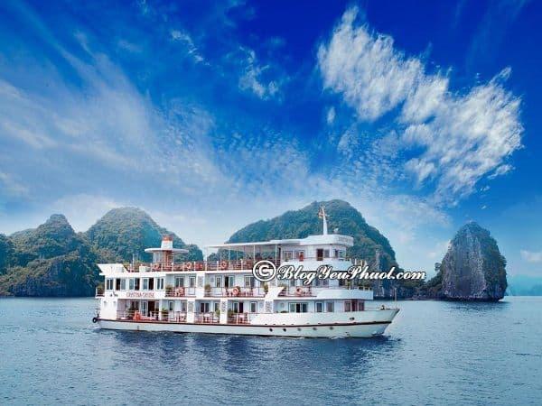 Kinh nghiệm chọn du thuyền du lịch Hạ Long: Những du thuyền nổi tiếng, tiện nghi nhất ở Kinh nghiệm chọn du thuyền du lịch Hạ Long