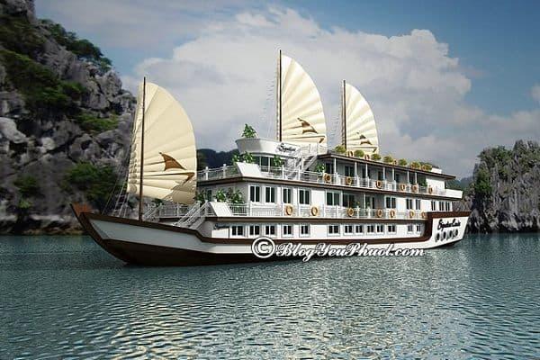 Kinh nghiệm chọn du thuyền du lịch Hạ Long: Những du thuyền tiện nghi, hiện đại ở Hạ Long đẹp nhất