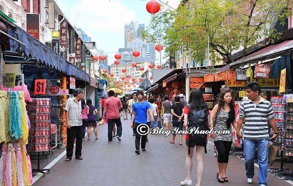 Những khu chợ mua sắm nổi tiếng ở singapore