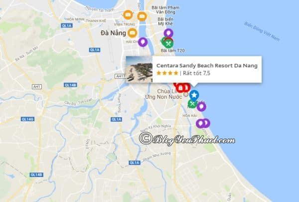 Địa chỉresort Sandy beach Đà Nẵng: Khách sạn Sandy Beach resort Đà Nẵng ở đâu, có gần biển không?