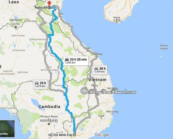 Bản đồ đường đi từ Sài Gòn đến Nghệ An: Sài Gòn cách Nghệ An bao nhiêu km, đi như thế nào?