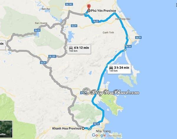 Đường đi từ Sài Gòn tới Phú Yên đi qua Khánh Hòa: Du lịch Phú Yên từ Sài Gòn đi đường nào nhanh, thuận tiện?
