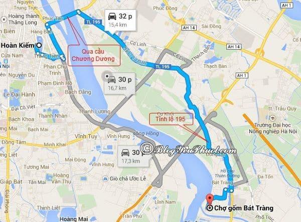 Đường đi Hà Nội đến Bát Tràng bằng xe máy: Kinh nghiệm đi du lịch Bát Tràng từ Hà Nội và đường đi chi tiết