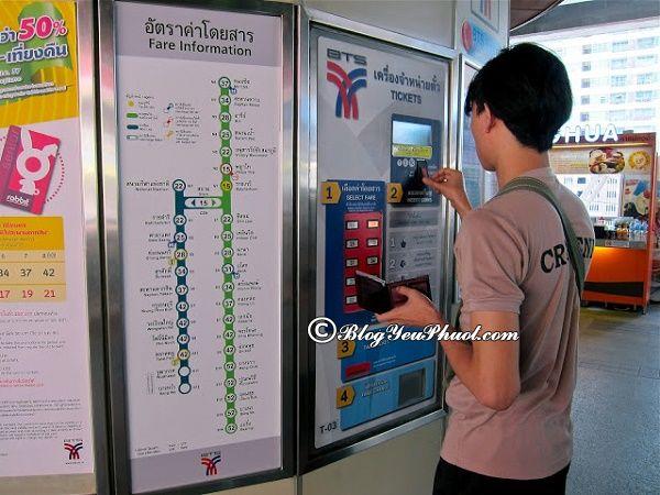Cách đi tàu điện BTS ở Bangkok như thế nào? Hướng dẫn đi tham quan, du lịch Bangkok bằng tàu điện BTS và MRT