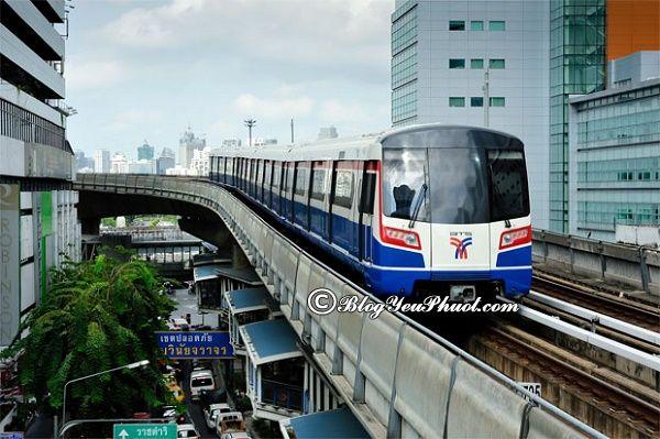 BTS Bangkok có những tuyến tàu nào? Hướng dẫn đi tham quan, du lịch Bangkok bằng tàu điện BTS và MRT