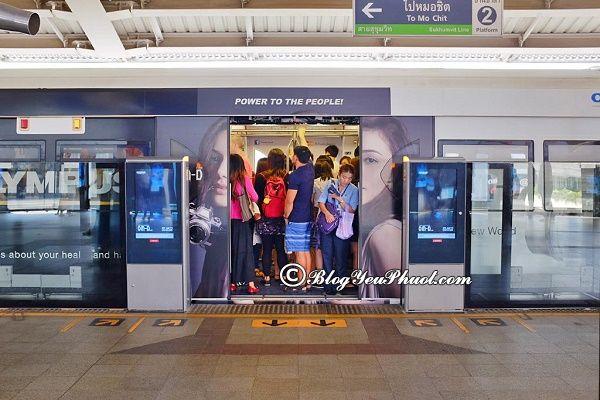 Trạm dừng MRT qua các điểm nổi tiếng ở Bangkok: Kinh nghiệm đi du lịch Bangkok bằng tàu điện BTS và MRT