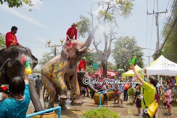 Lưu ý khi tham du lịch lễ hội té nước Thái Lan: Kinh nghiệm du lịch, tham quan Thái Lan mùa lễ hội té nước