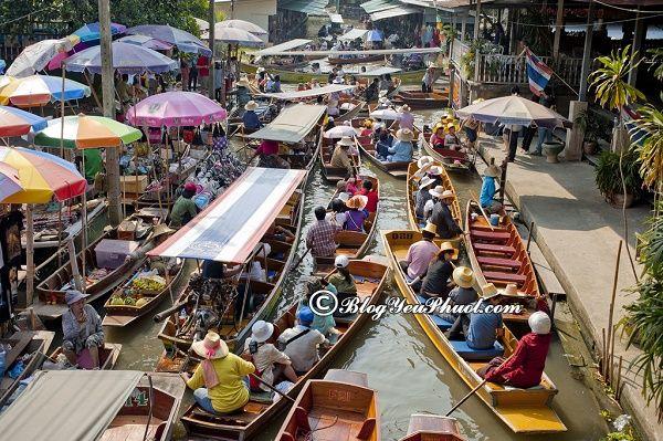 Chợ nổi độc đáo được yêu thích ở gần Bangkok: Những khu chợ nổi giá rẻ, độc đáo ở gần Bangkok