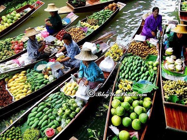 Địa chỉ tham quan, vui chơi thú vị gần Bangkok: Nên đi chợ nổi nào khi du lịch Bangkok?