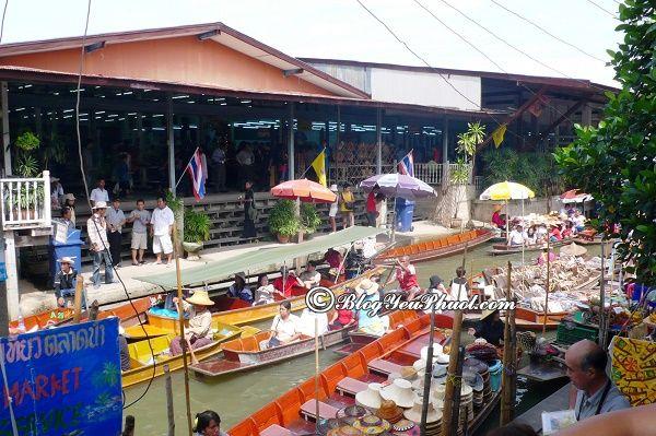chợ nổi bình dân, thú vị gần Bangkok
