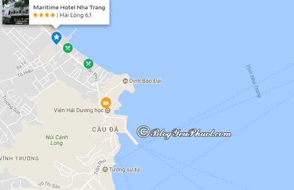 Vị trí củakhách sạn 4 sao Maritime Nha Trang: Khách sạn Maritime Nha Trang ở đâu, có gần biển không?