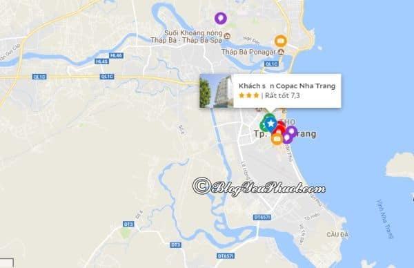 Vị trí của khách sạn 3 sao Copac Nha Trang ở đâu, có gần biển không? Đánh giá vị trí của khách sạn Copac Nha Trang