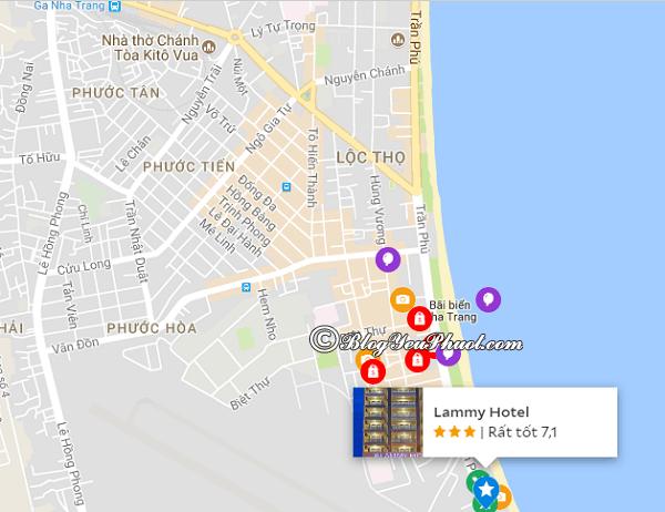 Vị trí của khách sạn 3 sao Lammy Nha Trang: Khách sạn Lammy Nha Trang có tốt không?