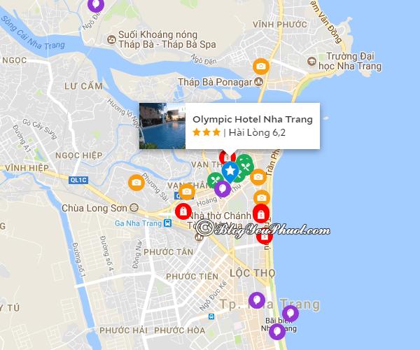 Khách sạn 3 sao Olympic Nha Trang review chi tiết: Khách sạn Olympic Nha Trang ở đâu, có gần biển không?