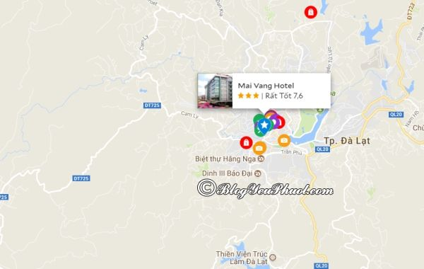 Đánh giá vị trí khách sạn Mai Vàng Đà Lạt: Khách sạn Mai Vàng Đà Lạt ở đâu?