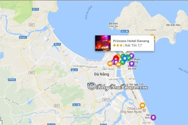 Khách sạn Princess Đà Nẵngở đâu, có gần biển không?