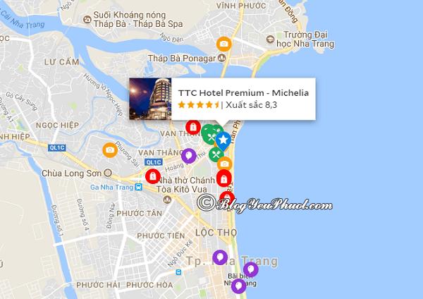 Vị trí của khách sạn 4 sao Michelia Nha Trang: Khách sạn Michelia Nha Trang có gần biển, view đẹp không?