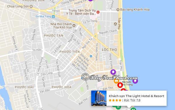 Vị trí khách sạn 4 saoThe Light Nha Trang: Khách sạn The Light Nha Trang ở đâu, có gần biển không?