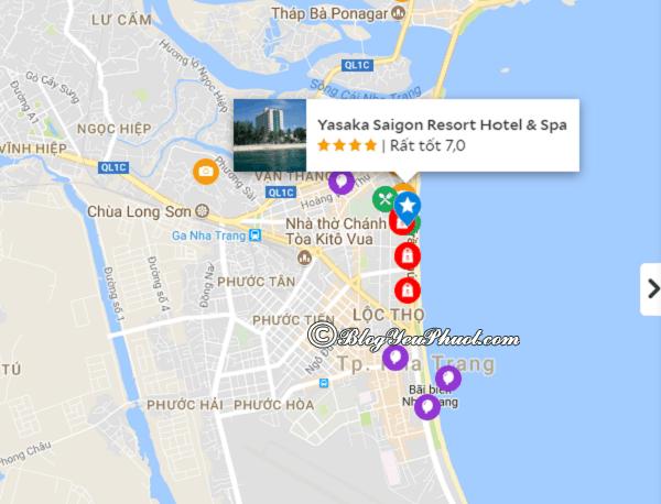 Đánh giá vị trí củaYasaka Saigon Resort Hotel & Spa Nha Trang