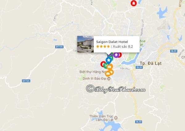 Khách sạn 4 sao Sài Gòn Đà Lạt nằm ở đâu? Đánh giá vị trí của khách sạn Sài Gòn Đà Lạt