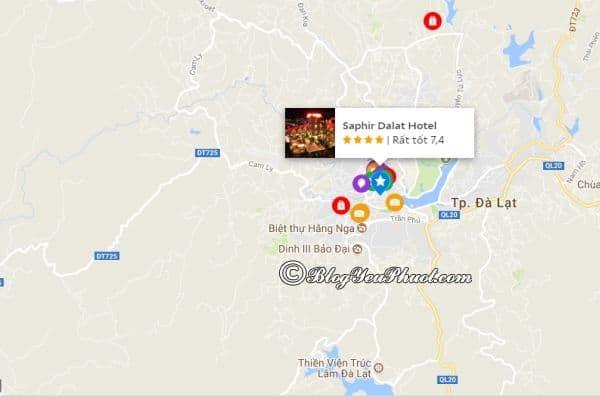 Khách sạn Saphir Đà Lạt nằm ở đâu? Review vị trí của khách sạn Saphir Đà Lạt