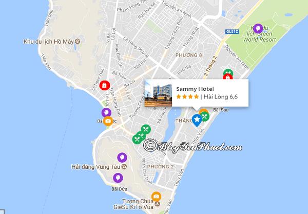 Khách sạn Sammy Vũng Tàu nằm ở đâu, có gần biển không? Review vị trí của khách sạn Sammy Vũng Tàu