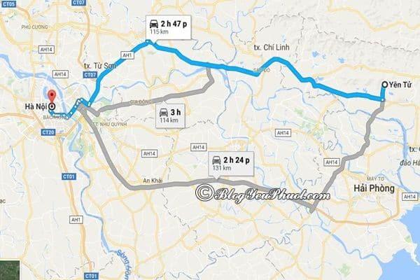 Bản đồ đường đi từ Hà Nội đến Yên Tử (Quảng Ninh): Hướng dẫn cách di chuyển và đường đi du lịch Yên Tử từ Hà Nội