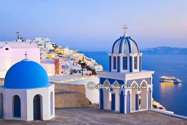 Du lịch đảo Santorini thời điểm nào thích hợp nhất? Địa điểm tham quan, ngắm cảnh, chụp ảnh đẹp ở đảo Santorini