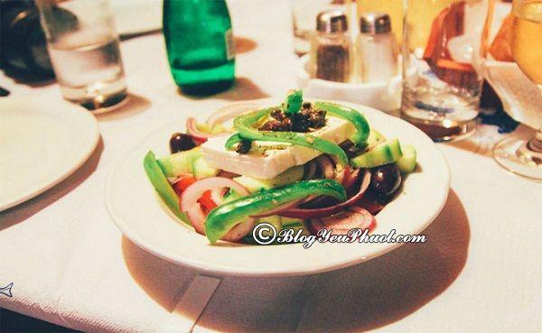 Du lịch Santorini ăn gì ngon? Món ăn ngon đặc sản nổi tiếng ở Santorini