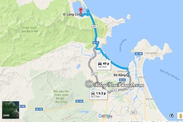 Bản đồđường đi từ Đà Nẵng đến Lăng Cô: Hướng dẫn cách di chuyển từ Đà Nẵng tới Lăng Cô du lịch
