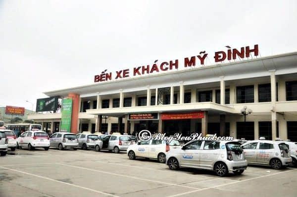 Phương tiện di chuyển đến Vân Đồn: Xe khách đi du lịch Vân Đồn từ Hà Nội