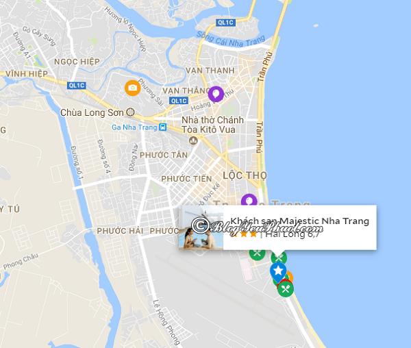 Đánh giá vị trí của Majestic Nha Trang: Khách sạn Majestic Nha Trang ở đâu, có gần biển không?