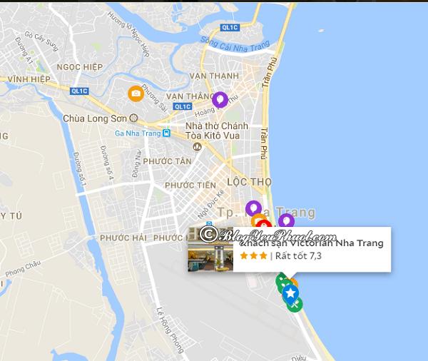 Đánh giá vị trí của khách sạn Victorian Nha Trang: Khách sạn Victorian Nha Trang ở đâu?
