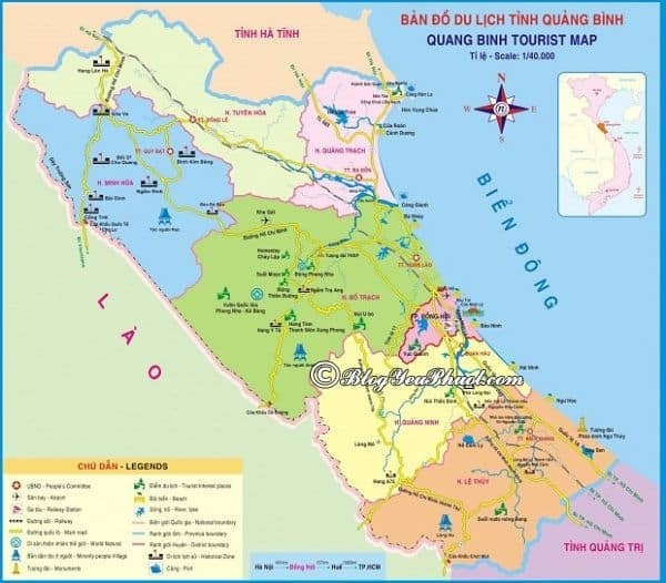 Bản đồ đường đi và khoảng cách từ Đà Nẵng đến Phong Nha – Kẻ Bàng