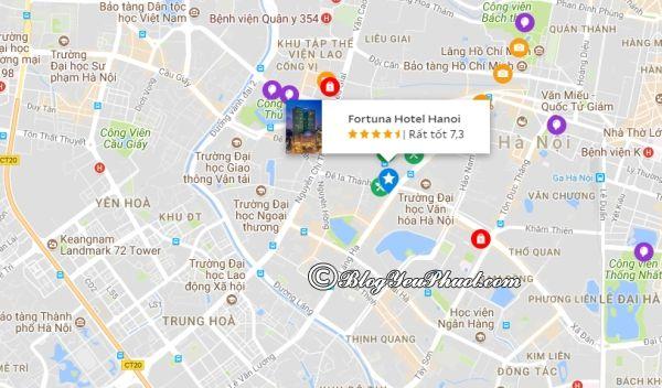 Khách sạn Fortuna Hà Nội nằm ở đâu? Review vị trí của khách sạn Fortuna Hotel Hà Nội