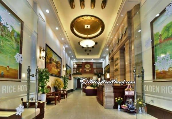 Thông tin Golden Rice Hotel Hanoi về vị trí, dịch vụ, tiện nghi: Đánh giá chất lượng phục vụ, tiện nghi của khách sạn Golden Rice Hotel Hà Nội